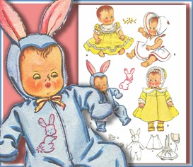 SEW a VINTAGE LAYETTE for your BABY DOLL! TODAY! | eBooks | Antiques