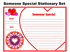 Valentine's Day Someone Special Stationery Set | Other Files | Documents and Forms