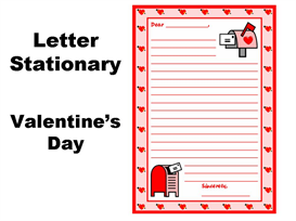 Valentine's Day and February Letter Writing Stationery Set | Other Files | Documents and Forms