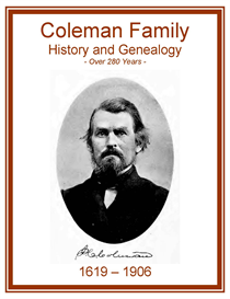 Coleman Family History and Genealogy | eBooks | History