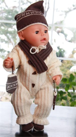 DollKnittingPattern 0038D ANNA SOFIE - Outdoor suit - Cap - Gloves - Scarf | Crafting | Knitting | Baby and Child