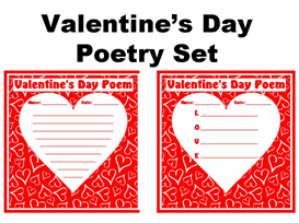 Valentine's Day Poetry Set | Other Files | Documents and Forms