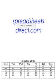 Personalised Photo Picture Calendar Maker Excel xls Spreadsheet | Documents and Forms | Spreadsheets