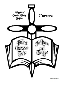 Biblical Character Traits to Learn and to Live-Cursive Copybook | eBooks | Education
