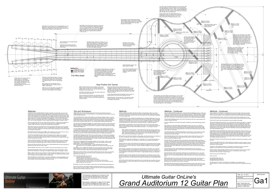 Grand Auditorium 12 String Guitar Plan | Other Files | Patterns and Templates