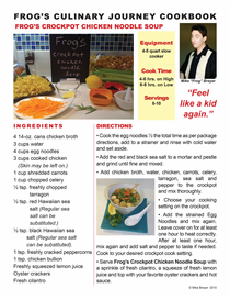 Frog's Culinary Journey E-Cookbook / Crockpot Chicken Noodle Soup | Other Files | Documents and Forms