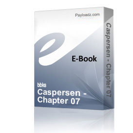 Caspersen - Chapter 07 | eBooks | Non-Fiction