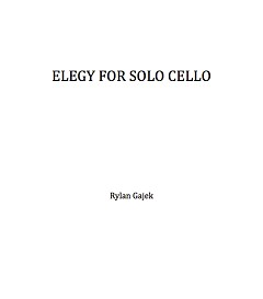 gajek elegy for solo cello