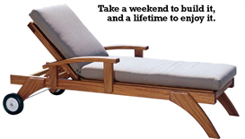 chaise lounger chair plans