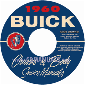 1960 Buick Shop Manual & Body Manual - All Models | eBooks | Automotive