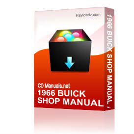 1966 buick shop manual and body manual all models