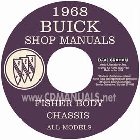 1968 buick shop manual and body manual - all models