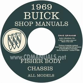 1969 buick shop manual and body manual - all models