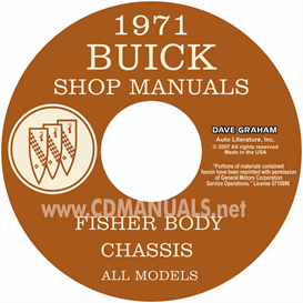 1971 buick shop manual & body manual - all models