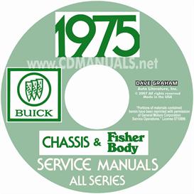 1975 buick shop manual & body manual - all models