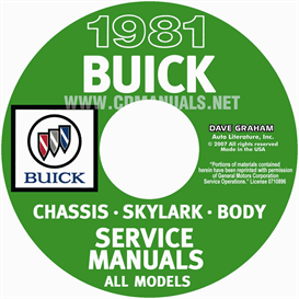 1981 Buick Shop Manuals | eBooks | Automotive