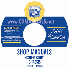1966 cadillac shop manual & body manual