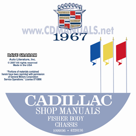 1967 cadillac shop manual & body manual - all models