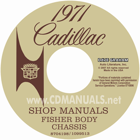 1971 Cadillac Shop Manual & Body Manual - All Models | eBooks | Automotive