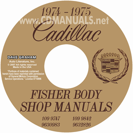 1974-1975 Cadillac Shop Manual & Body Manual - All | eBooks | Automotive