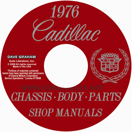 1976 cadillac shop manual and body manual  all models