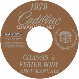1979 cadillac shop manual & body manual - all models