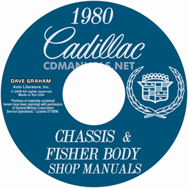 1980 cadillac shop manual & body manual - all models
