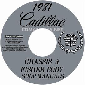 1981 cadillac shop manuals - all models