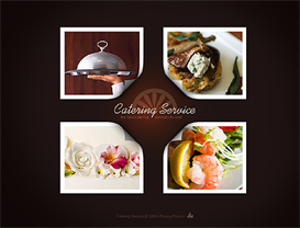 catering service flash website template - premium edition