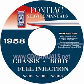 1958 Pontiac Shop Manual With Body,  & Fuel Injection Man | eBooks | Automotive