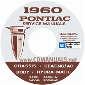1960 Pontiac Shop Manual With Body, Hydra-Matic, & A/C Manual | eBooks | Automotive