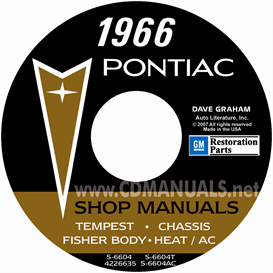 1966 Pontiac Shop Manual With Body & Air Conditioning Manuals - | eBooks | Automotive