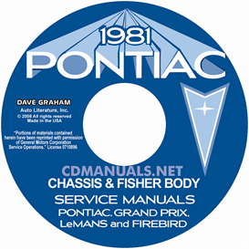 1981 Pontiac Shop Manual & Fisher Body | eBooks | Automotive