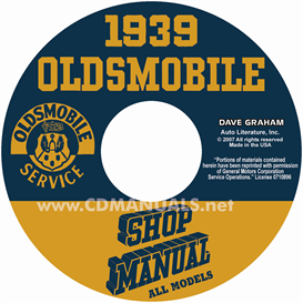 1939 Oldsmobile Shop Manual- All Models | eBooks | Automotive