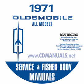 1971 Oldsmobile Shop Manual & Body Manual- All Models | eBooks | Automotive