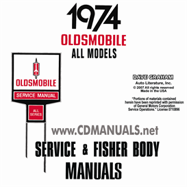 1974 Oldsmobile Shop Manual & Body Manual- All Models | eBooks | Automotive