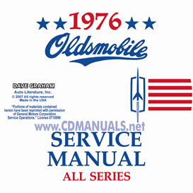 1976 Oldsmobile Shop Manual & Body Manual | eBooks | Automotive
