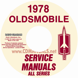 1978 Oldsmobile Shop Manual & Body Manual- All Models | eBooks | Automotive