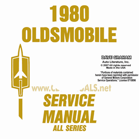 1980 Oldsmobile Shop Manual& Body Manual- All Models | eBooks | Automotive