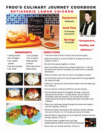 Frogs Culinary Journey E-Cookbook / Rotisserie Lemon Chicken | Other Files | Documents and Forms