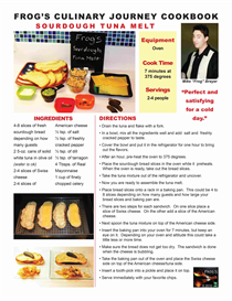 frogs culinary journey e-cookbook / sourdough tuna melt