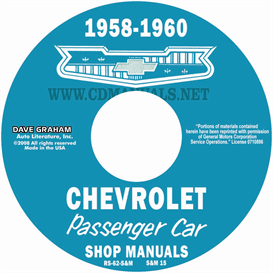1958-1959-1960 Chevrolet Shop Manuals | eBooks | Automotive