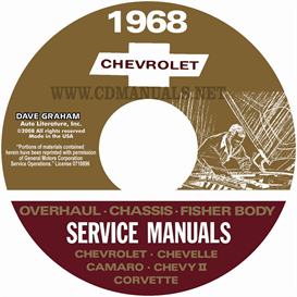 1968 Chevy Shop, Overhaul, & Body Manuals- All Models | eBooks | Automotive