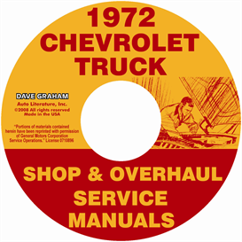 1972 Chevy Pickup & Truck Shop Manual & Overhaul Manual | eBooks | Automotive
