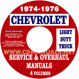 1974-1976 Chevrolet Pickup, Blazer, Van, & Suburban Shop Manual | eBooks | Automotive
