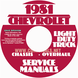 1981 Chevrolet Pickup Blazer Van And Suburban Shop Manual | eBooks | Automotive