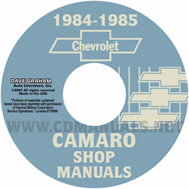 1984-1985 Chevrolet Camaro Shop Manuals | eBooks | Automotive