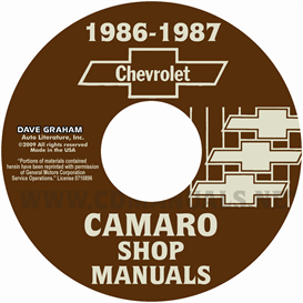 1986-1987 Chevrolet Camaro Shop Manuals | eBooks | Automotive