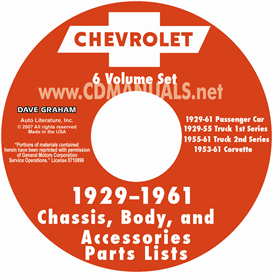 1929-1961 Chevrolet Illustrated Parts Book | eBooks | Automotive