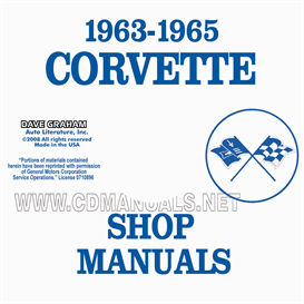 1963-1965 Corvette Shop Manuals | eBooks | Automotive